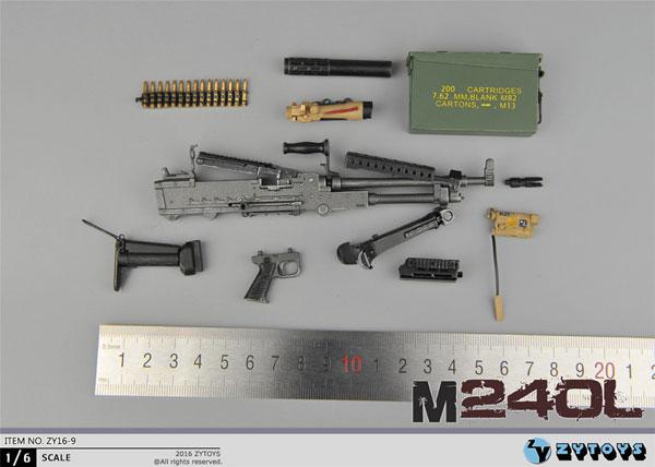1/6 M240L マシンガンセット (ZY16-9)[ZY-TOYS]《在庫切れ》