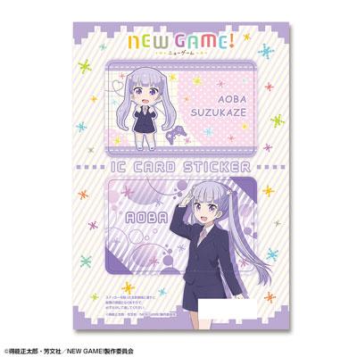TVアニメ「NEW GAME!」 ICカードステッカー デザイン01(涼風青葉)(再販)[ライセンスエージェント]《09月予約》