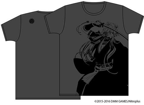 刀剣乱舞-ONLINE- 紋刺繍入りTシャツ 小狐丸  ヘザーブラック サイズ:M[アクシア]《取り寄せ※暫定》