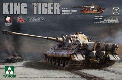 1/35 ドイツ軍重戦車 キングタイガー ヘンシェル砲塔 第505重戦車大隊スペシャルバージョン プラモデル(再販)[TAKOM]《01月予約》