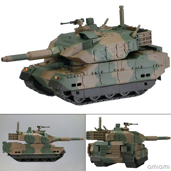ソフビトイボックス Hi-LINE 陸上自衛隊 10式戦車 ソフビフィギュア[海洋堂]《02月予約》
