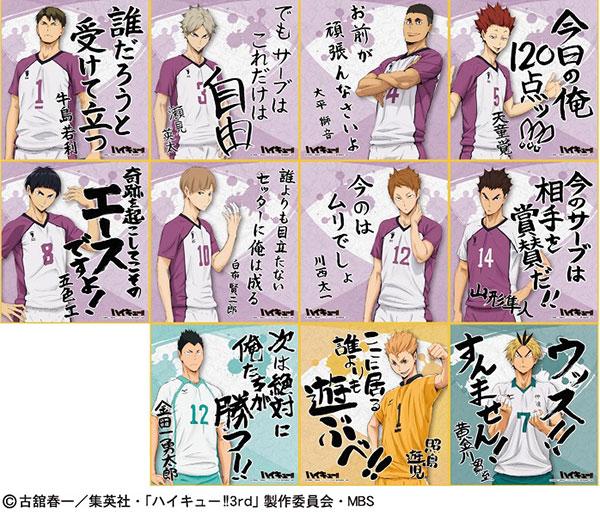 ハイキュー!! ビジュアル色紙コレクション3 16個入りBOX アニメ・キャラクターグッズ新作情報・予約開始速報