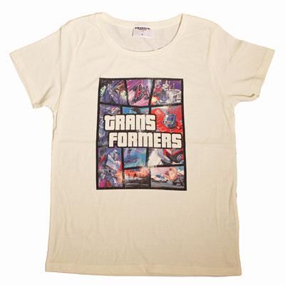トランスフォーマー/ ジェネレーション1/G1 アートグラフィック Tシャツ RS-14 ホワイト サイズXL