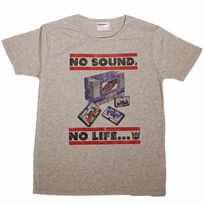 トランスフォーマー/ サウンドウェーブ カレッジ Tシャツ RS-15 グレー サイズXL