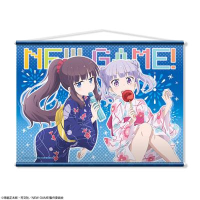 TVアニメ「NEW GAME!」B2タペストリー デザイン01(涼風青葉&滝本ひふみ/浴衣ver.)(再販)[ライセンスエージェント]《06月予約》