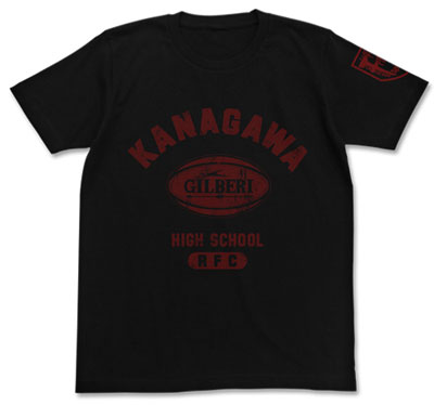 ALL OUT!! 神高ラグビー部カレッジTシャツ/BLACK-S[コスパ]《在庫切れ》