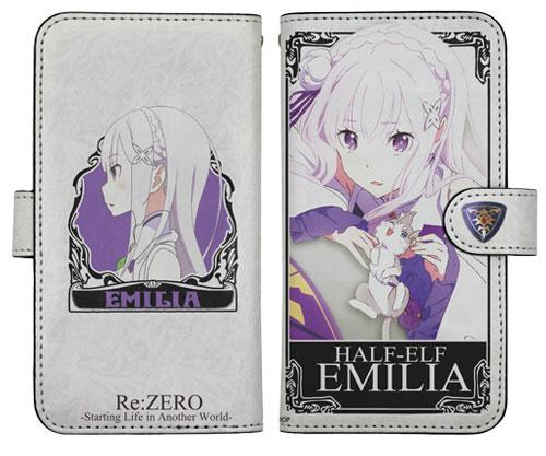 Re:ゼロから始める異世界生活 エミリア手帳型スマホケース[コスパ]《取り寄せ※暫定》