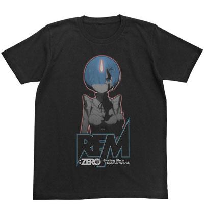 Re:ゼロから始める異世界生活 レム蓄光Tシャツ/ブラック-S