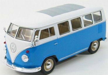 1/24 VW T1 バス 1963(ブルー)(再販)[WELLY]《取り寄せ※暫定》
