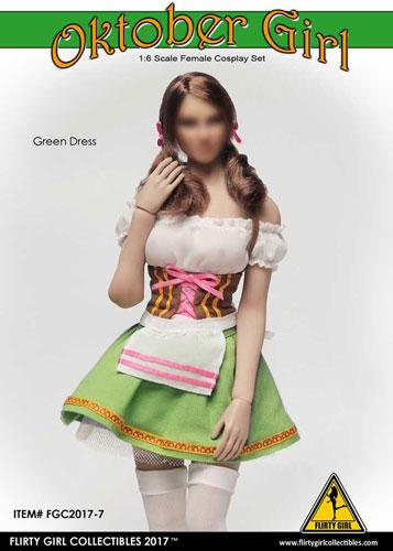 1/6 女性用 コスプレセット オクトーバーガール グリーンドレス(ドール用衣装)[FLIRTY GIRL]《在庫切れ》