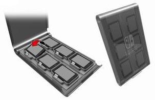 CARD PALETTE 12 for Nintendo Switch ブラック[キーズファクトリー]【送料無料】《発売済・在庫品》
