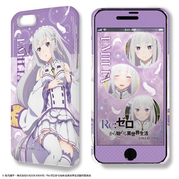 デザジャケット「Re:ゼロから始める異世界生活」iPhone 7/8ケース&保護シート 01 エミリア