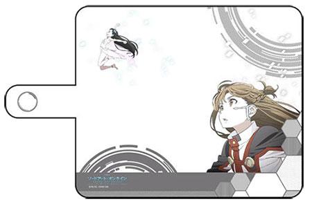 ソードアート・オンライン -オーディナル・スケール- スマホケース(アスナ&ユイ/汎用Lサイズ)[カーテン魂]《在庫切れ》
