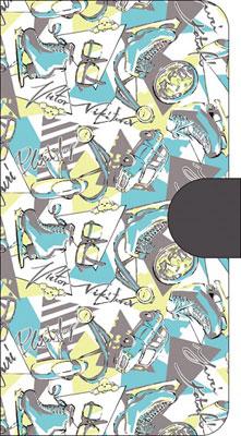 ユーリ!!! on ICE(アニメ版) 手帳型スマートフォンケース テキスタイル総柄[ムービック]《05月予約》