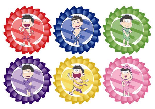 おそ松さん キャラロゼッタ リボン松ver 6個入りBOX[コンテンツシード]《在庫切れ》