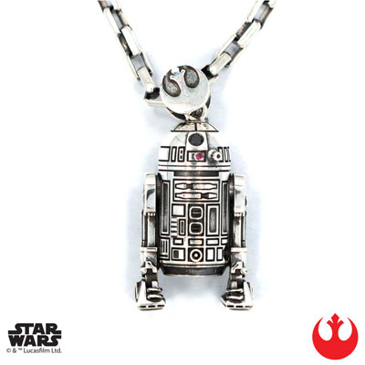 スターウォーズ/ R2-D2 シルバーペンダント USワンサイズ[ハンチョロ]【送料無料】《04月仮予約》