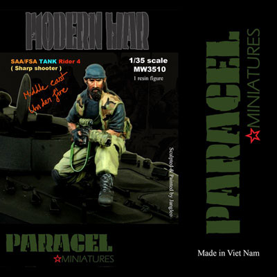 1/35 シリア政府軍 / 自由シリア軍 AFV 跨乗兵 #4 (狙撃手)[Paracel Miniatures]《在庫切れ》