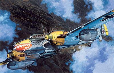 1/48 ドイツ空軍戦闘機 Bf110D-3 プラモデル(再販)[サイバーホビー]《在庫切れ》