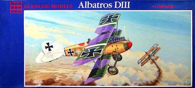 1/48 ドイツ空軍 戦闘機 アルバトロス DIII プラモデル[グレンコモデル]《11月予約※暫定》