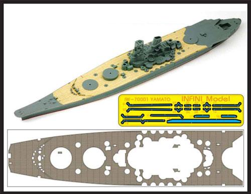 IWシリーズ 1/700 艦船用木製甲板 日本海軍 戦艦 大和用 エッチングパーツ付き(T社31113用)[インフィニモデル]《取り寄せ※暫定》