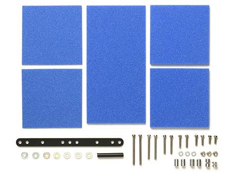 グレードアップパーツシリーズ No.512 ブレーキスポンジセット(マイルド 1/2/3mm ブルー)[タミヤ]《発売済・在庫品》