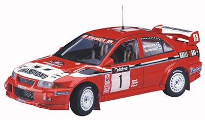 """1/24 三菱ランサー エボリューションVI """"1999 WRCドライバーズチャンピオン"""" プラモデル(再販)[ハセガワ]《発売済・在庫品》"""
