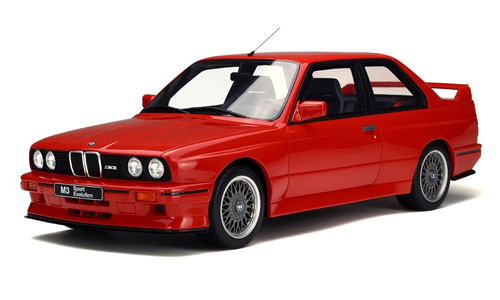 1/12 BMW M3 (E30) スポーツ エボリューション ブリリアントレッド[OttO mobile]【送料無料】《10月仮予約》