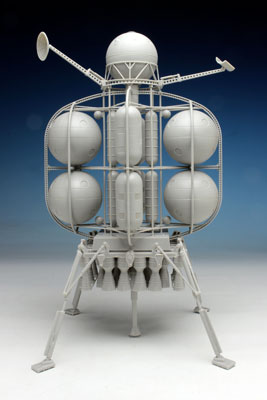 """1/350 ムーンランダー """"フォン・ブラウン博士の月面探査機"""" プラモデル[ペガサスホビー]《取り寄せ※暫定》"""