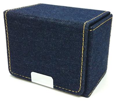 デニム製カードケース(ネイビー)