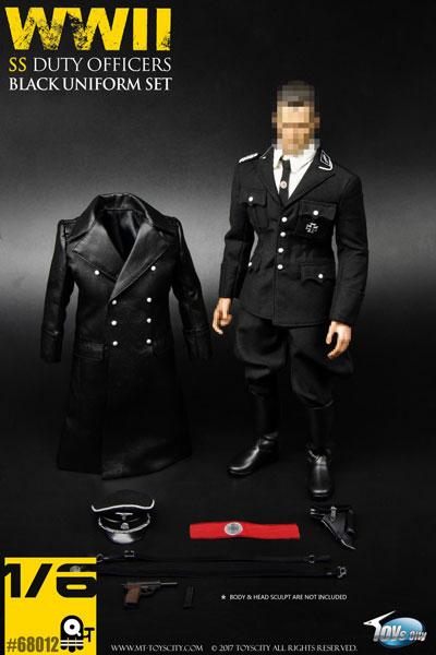 1/6 WWII ドイツ労働者党 SS デューティー オフィサー ブラック ユニフォーム セット (ドール用衣装)[Toyscity]《在庫切れ》