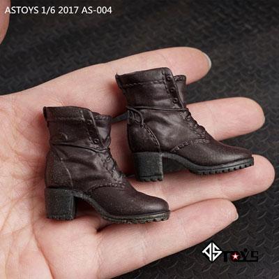 1/6 女性用ブーツ (ブラウン) (ジョイント付属 /ウェザリング有り) (ドール用)[AS Toys]《在庫切れ》