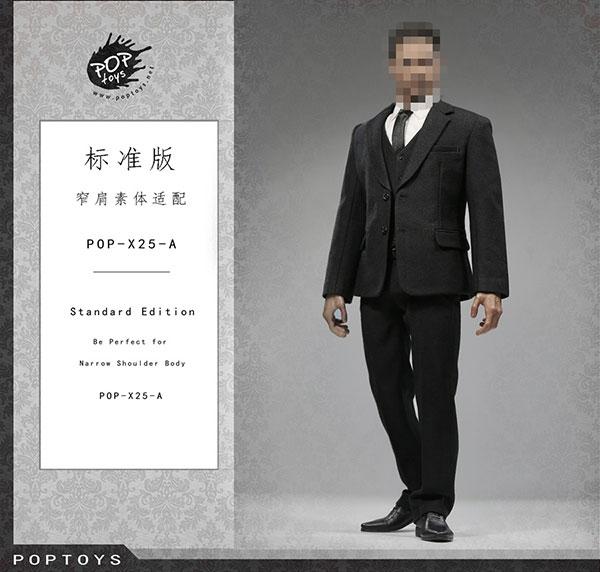 1/6 メンズ スーツ セット ブラック (ドール用衣装)[POP Toys]《在庫切れ》