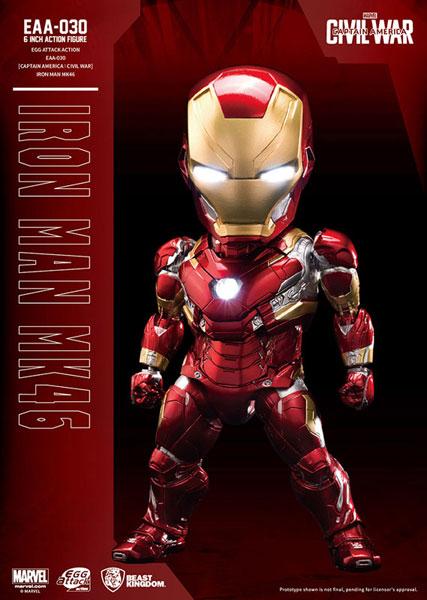 エッグアタック・アクション #034『シビル・ウォー/キャプテン・アメリカ』アイアンマン・マーク46[ビーストキングダム]《01月仮予約》