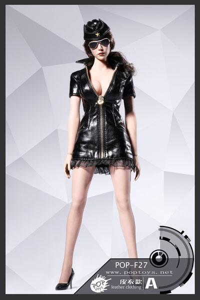 1/6 セクシー ウォー ウーマン スーツ セット レザー Ver.A (ドール用)[POP Toys]《発売済・在庫品》