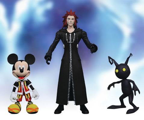 キングダムハーツII アクションフィギュア キングダムハーツセレクトシリーズ1 ミッキーマウス&アクセル&シャドウ