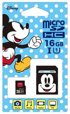 ディズニーmicroSDカード アダプターセット 16GB ミッキー (Switch用)[サイバーガジェット]《取り寄せ※暫定》