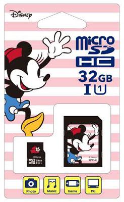 ディズニーmicroSDカード アダプターセット 32GB ミニー (Switch用)[サイバーガジェット]《取り寄せ※暫定》