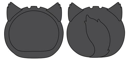 おまんじゅうにぎにぎマスコット きぐるみケース いぬ ブラック ふつうサイズ用[エンスカイ]《発売済・在庫品》