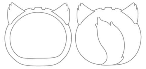 おまんじゅうにぎにぎマスコット きぐるみケース いぬ ホワイト ふつうサイズ用[エンスカイ]《発売済・在庫品》