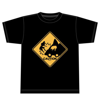 けものフレンズ あぶないよー! Tシャツ ブラックM[エクスレア]《在庫切れ》