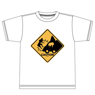 けものフレンズ あぶないよー! Tシャツ ホワイトL[エクスレア]《在庫切れ》