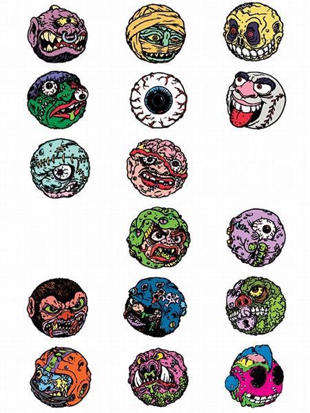 マッドボール/ マッドボールズ エナメル ピンズ シリーズ: 20個入りBOX[キッドロボット]《在庫切れ》