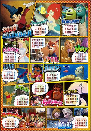 ジグソーパズル ディズニー 2018年 カレンダー 1000ピース (D1000-485)[テンヨー]《在庫切れ》