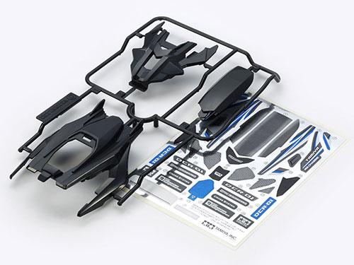 ミニ四駆特別企画 DCR-01 (デクロス-01) ボディパーツセット (ガンメタル)[タミヤ]《在庫切れ》