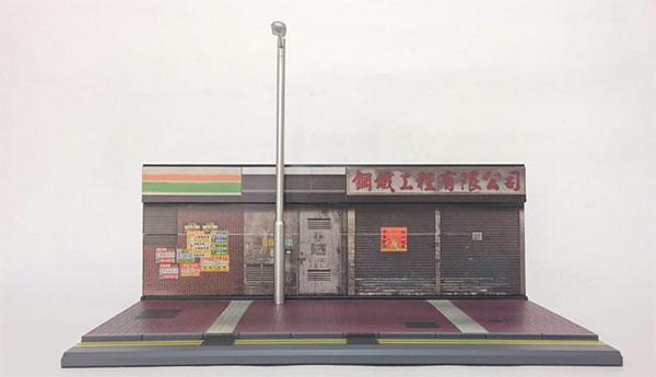 1/35 香港ストリート ジオラマセット 屋台シリーズ展示用 街灯付き[TINY]《04月予約※暫定》