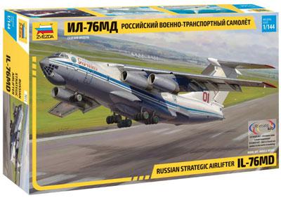 1/144 イリューシン IL-76MD 大型ジェット輸送機 プラモデル[ズベズダ]《08月予約》