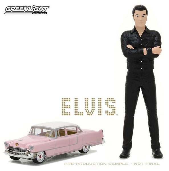 "1/64 Elvis Presley (1935-77) - 1955 Cadillac Fleetwood Series 60 ""Pink Cadillac"" with 1/18 Elvis figure[グリーンライト]《取り寄せ※暫定》"