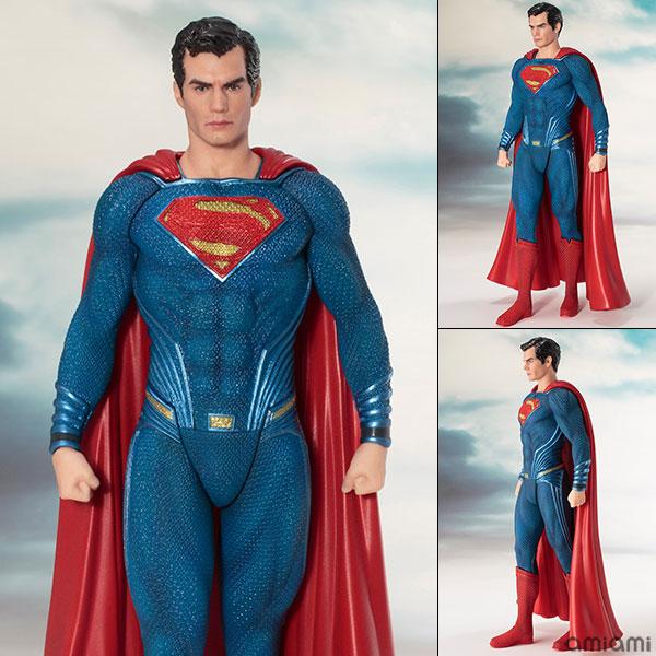 ARTFX+ JUSTICE LEAGUE スーパーマン 1/10 完成品フィギュア[コトブキヤ]《発売済・在庫品》