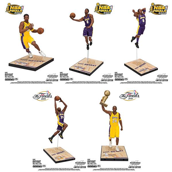 TMP/ NBA シリーズ: コービー・ブライアント チャンピオンシリーズ 7インチ フィギュア: 5種セット[マクファーレントイズ]【送料無料】《10月仮予約》