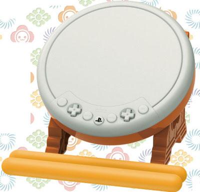 太鼓の達人専用コントローラー「太鼓とバチ for PlayStation4」(再販)[ホリ]《発売済・在庫品》